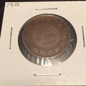 1912 LARGE CANADIAN CENT GOOD CONDITION
