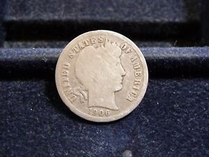 1906 BARBER SILVER DIME IN GOOD CONDITION  J 18 18