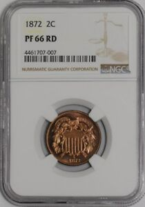 Click now to see the BUY IT NOW Price! 1872 TWO CENT 2C 937922 5 PF66 RD NGC