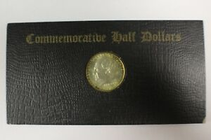 1936 BRIDGEPORT COMMEMORATIVE HALF DOLLAR IN ORIGINAL HOLDER TONED