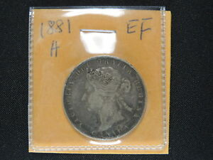Click now to see the BUY IT NOW Price! 1881 H 50 CENT COIN CANADA VICTORIA FIFTY CENTS .925 SILVER EF GRADE