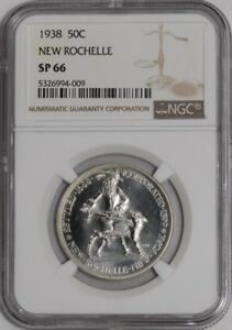 Click now to see the BUY IT NOW Price! 1938 NEW ROCHELLE 50C 939099 6 SP66 NGC