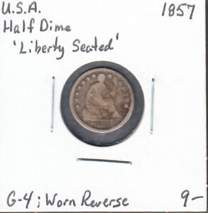 1857   UNITED STATES   HALF DIME   SEATED LIBERTY   G 4   AM06