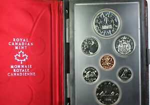 1978 CANADA DOUBLE DOLLAR 1 SILVER COMMONWEALTH GAMES PROOF SET 7 COINS COA