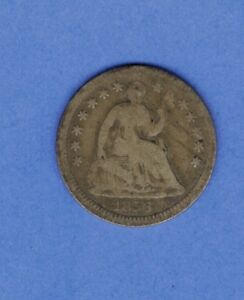 1856 HALF DIME LIBERTY SEATED US SILVER COIN   650