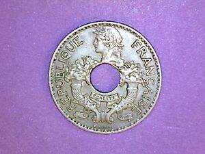 FRENCH INDO CHINA   5 CENTS   1937  A    KM 18
