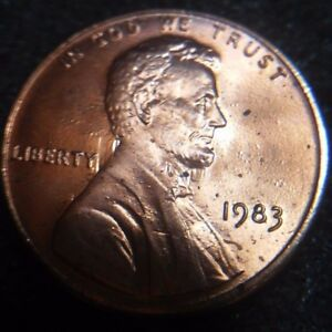 1983 LINCOLN CENT US MINT ERROR MAJOR CLASHED DIES BU NICE STRONG EXAMPLE