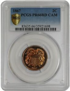 Click now to see the BUY IT NOW Price! 1867 TWO CENT 2C 938287 2 PR66 RD CAMEO SECURE PLUS PCGS