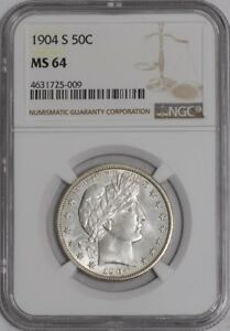 Click now to see the BUY IT NOW Price! 1904 S BARBER HALF 50C 939236 2 MS64 NGC