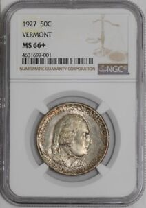 Click now to see the BUY IT NOW Price! 1927 VERMONT 50C 939459 93 MS66  NGC