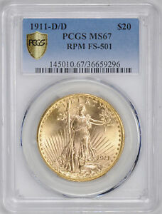 Click now to see the BUY IT NOW Price! 1911 D/D ST. GAUDENS $20 PCGS MS 67