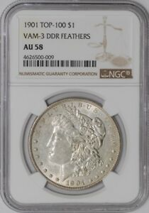Click now to see the BUY IT NOW Price! 1901 MORGAN DOLLAR $ VAM 3 DDR FEATHERS 938369 6 AU58 NGC
