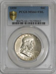 Click now to see the BUY IT NOW Price! 1959 FRANKLIN HALF 50C 939468 2 MS66  FBL SECURE PLUS PCGS