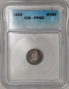Click now to see the BUY IT NOW Price! 1829 CAPPED BUST HALF DIME H10C PR63 ICG V 2 LM 3 30 MINTED ESTIMATE 20 KNOWN