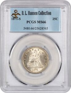 Click now to see the BUY IT NOW Price! 1871 S 25C PCGS MS66   LIBERTY SEATED QUARTER   FROSTY REGISTRY QUALITY GEM