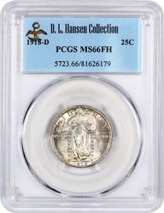 Click now to see the BUY IT NOW Price! 1918 D 25C PCGS MS66 FH   UNDERRATED DATE IN FULL HEAD