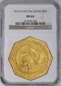 Click now to see the BUY IT NOW Price! 1915 S GOLD $50 NGC MS 64