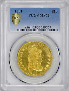 Click now to see the BUY IT NOW Price! 1801 DRAPED BUST $10 PCGS MS 63