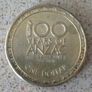 AUSTRALIAN $1 COIN 2017   100 YEARS OF ANZAC ONE DOLLAR CIRCULATED