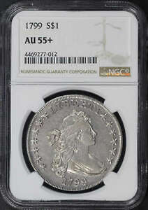 1799 DRAPED BUST DOLLAR NGC AU 55   160101