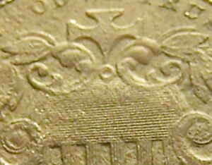 1872 SHIELD NICKEL DOUBLED DIE OBVERSE  DDO  AU DETS CORROSION MICRO PITTING