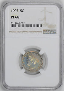 Click now to see the BUY IT NOW Price! 1905 LIBERTY 5C NGC PR 68