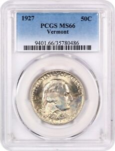 Click now to see the BUY IT NOW Price! 1927 VERMONT 50C PCGS MS66   POPULAR  ISSUE   SILVER CLASSIC COMMEMORATIVE