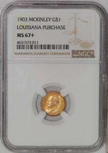 Click now to see the BUY IT NOW Price! 1903 $ GOLD MCKINLEY DOLLAR LOUISIANA PURCHASE 939043 8 MS67  NGC