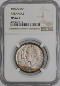 Click now to see the BUY IT NOW Price! 1936 S ARKANSAS 50C 938572 31 MS67  NGC