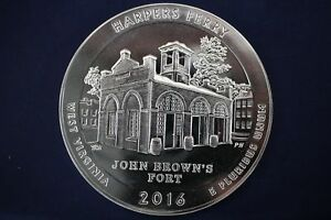 2016 AMERICA THE BEAUTIFUL ATB HARPERS FERRY WV 5 OZ SILVER ROUND