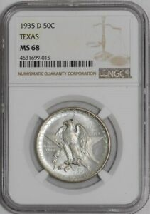 Click now to see the BUY IT NOW Price! 1935 D TEXAS 50C 939359 6 MS68 NGC