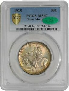 Click now to see the BUY IT NOW Price! 1925 STONE MOUNTAIN 50C 939641 5 MS67 SECURE PLUS PCGS   CAC