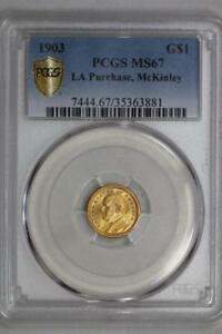 Click now to see the BUY IT NOW Price! 1903 LOUISIANA PURCHASE MCKINLEY GOLD $1 DOLLAR MS67 PCGS US MINT COMMEMORATIVE