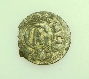 MEDIEVAL LIVONIA RIGA SHILLING SOLID COIN ORIGINAL UNCEAN CONDITION NR. 9345