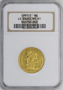 Click now to see the BUY IT NOW Price! 1797/5 DRAPED BUST $5 NGC MS 61