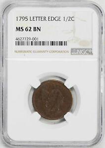 Click now to see the BUY IT NOW Price! 1795 LIBERTY CAP 1/2 NGC MS 62 BN