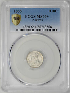 Click now to see the BUY IT NOW Price! 1855 LIBERTY SEATED H10C PCGS MS 66