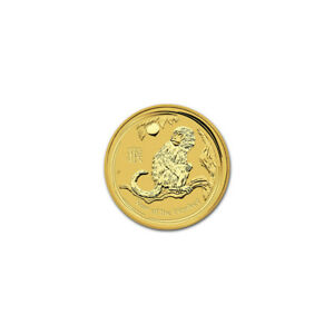 AUSTRALIAN PERTH MINT SERIES II LUNAR GOLD ONE TWENTIETH OUNCE 2016 MONKEY