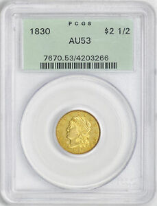 Click now to see the BUY IT NOW Price! 1830 CAPPED BUST $2.5 PCGS AU 53