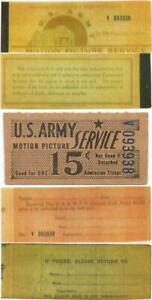 PRE 1948 NICE 15 ADMISSION TICKET OR CHIT FROM U.S. ARMY MOTION PICTURE SERVICE