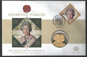 2012 GUERNSEY DIAMOND JUBILEE 5 COIN ON GIBRALTAR PNC COVER.