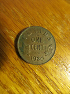 CANADA 1920 SMALL CENT COIN