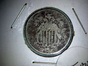 1868 SHIELD NICKEL  OLD UNITED STATES NICKEL 5 CENT COIN