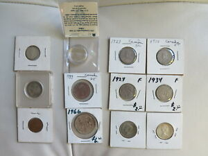 Click now to see the BUY IT NOW Price! 1923  1992 CANADA 5 CENTS QUARTER YUKON SILVER HIGH GRADE LOT OF 12 COINS  74