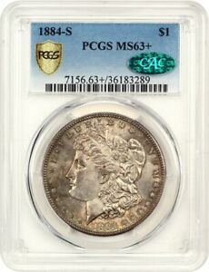 Click now to see the BUY IT NOW Price! 1884 S $1 PCGS/CAC MS63    KEY DATE FROM SAN FRANCISCO   MORGAN SILVER DOLLAR
