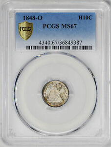 1848 O LIBERTY SEATED H10C PCGS MS 67