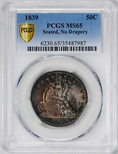 Click now to see the BUY IT NOW Price! 1839 LIBERTY SEATED 50C PCGS MS 65