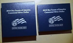 Click now to see the BUY IT NOW Price! 2010 BOY SCOUTS OF AMERICA 1 PROOF AND 1 UNCIRCULATED SILVER DOLLAR