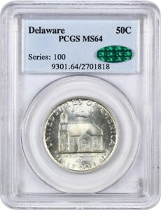 1936 DELAWARE 50C PCGS/CAC MS64   LOW MINTAGE ISSUE   LOW MINTAGE ISSUE
