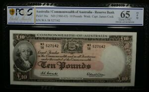 Click now to see the BUY IT NOW Price! AUSTRALIA 1960 10 POUND NOTES RESERVE BANK CONSECUTIVE PAIR GEM UNC PCGS 65 OPQ